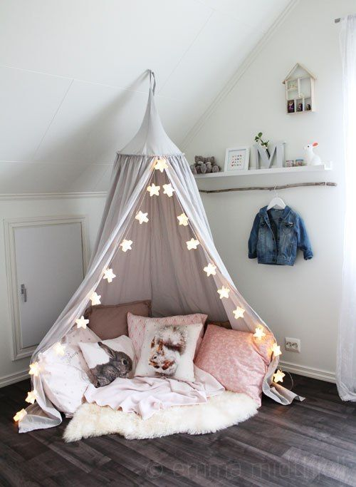 temporary tent reading nook
